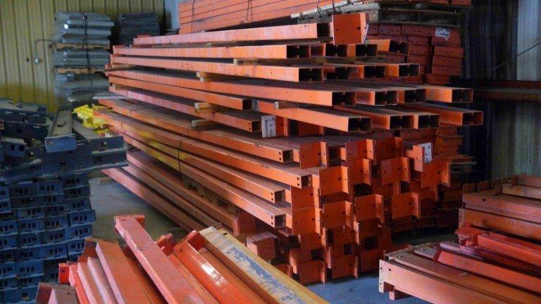 Used Warehouse Pallet Rack Beams