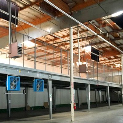 Steel mezzanine floor design pallet rack pallet racks for Steel mezzanine design