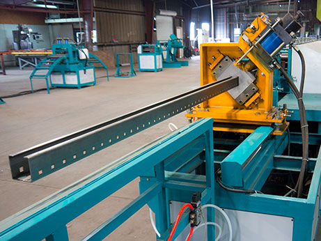 pallet rack beam frabication machine